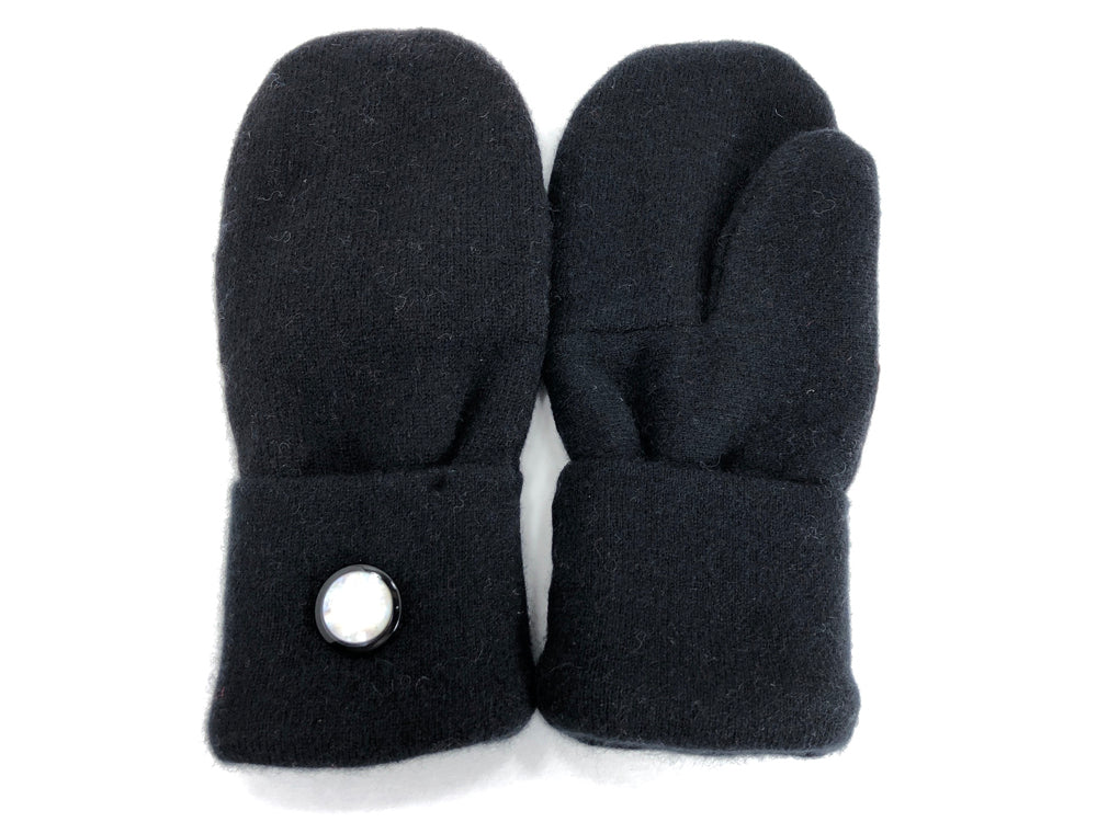 Black Cashmere Wool Mittens - Medium - 1765 - The Mitten Company