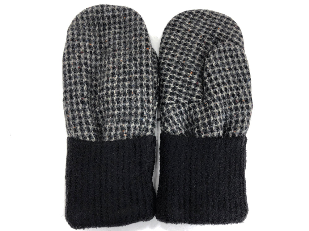 Black-Gray Men's Wool Mittens - Large - 1768-Mens-The Mitten Company