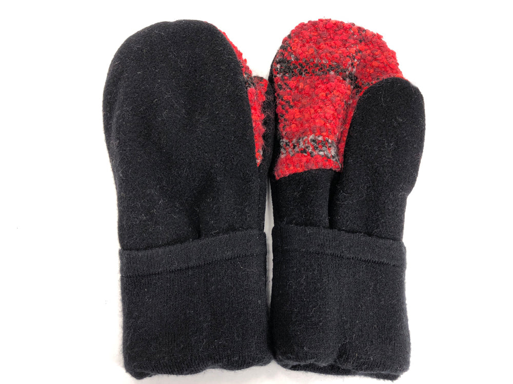 Black-Red Men's Wool Mittens - Large - 1770 - The Mitten Company