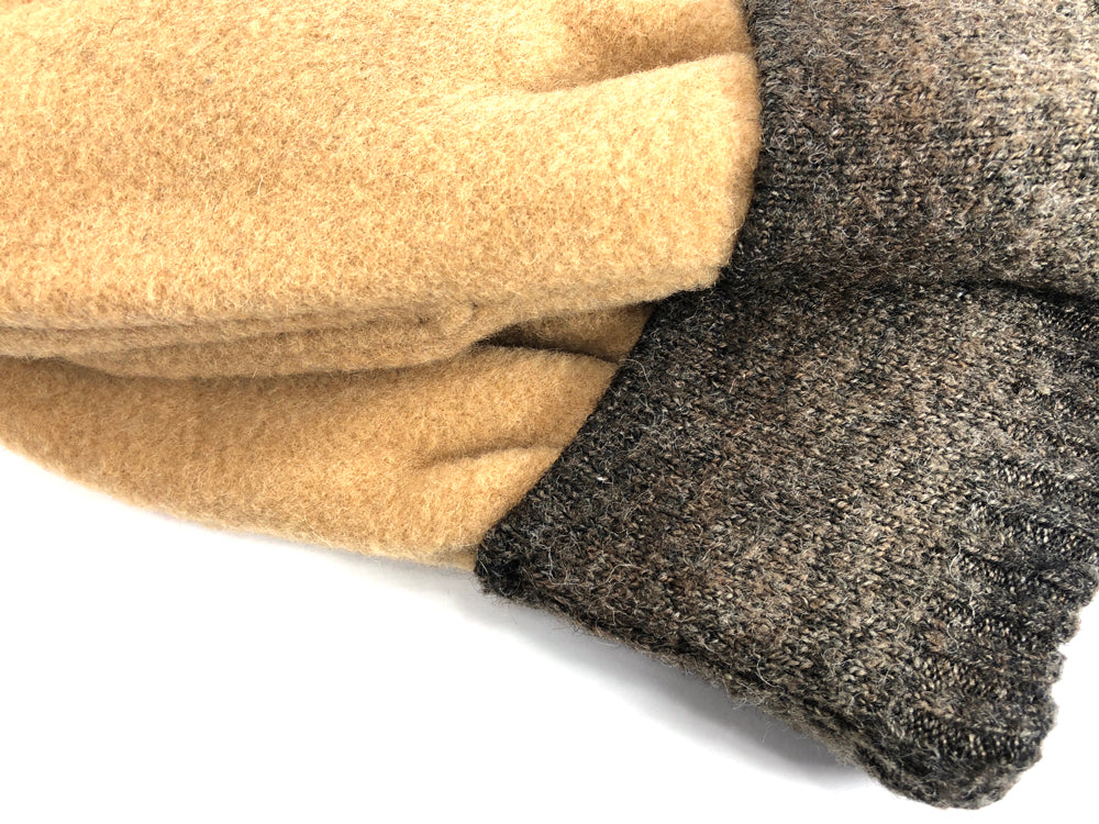 Brown-Tan Men's Wool Mittens - Large - 1772 - The Mitten Company