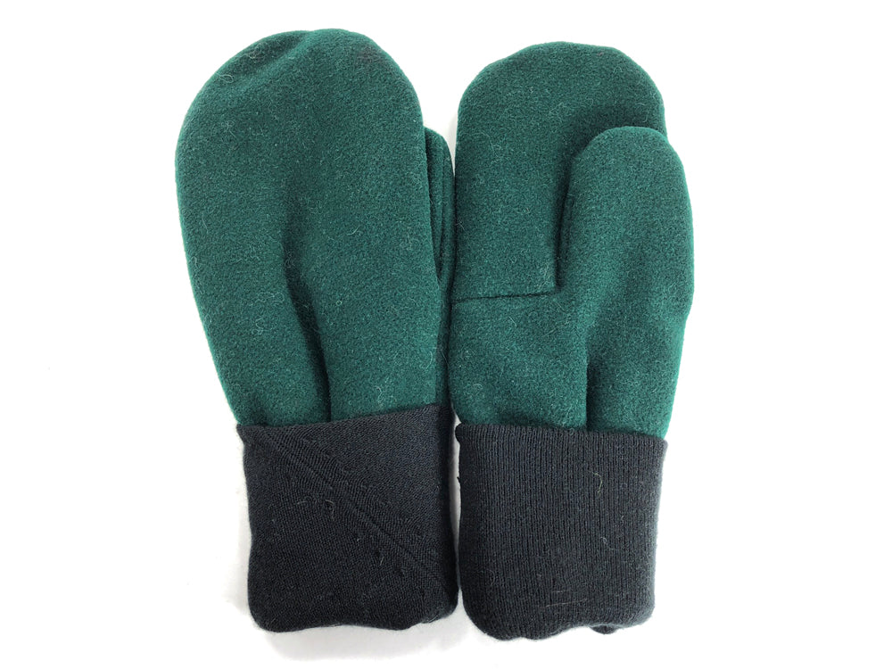Green-Black Men's Wool Mittens - Large - 1773-Mens-The Mitten Company