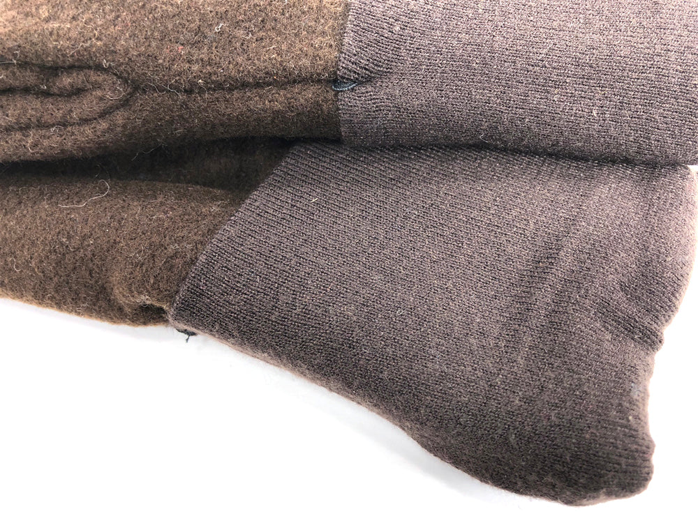Brown Men's Wool Mittens - Large - 1775 - The Mitten Company