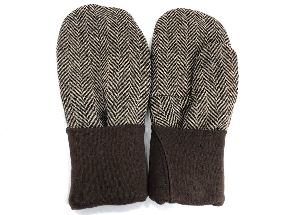 Brown Men's Wool Mittens - Large - 1776 - The Mitten Company