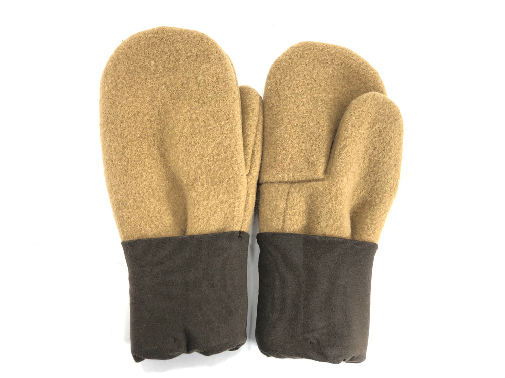 Brown-Tan Men's Wool Mittens - Large - 1778-Mens-The Mitten Company