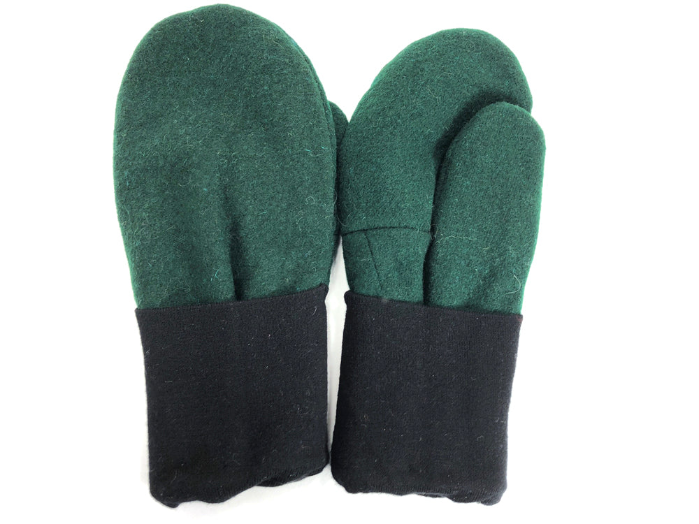 Black-Green Men's Wool Mittens - Large - 1779-Mens-The Mitten Company