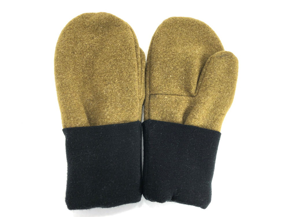 Black-Green Men's Wool Mittens - Large - 1780-Mens-The Mitten Company