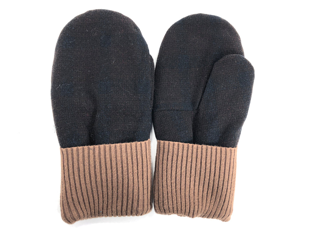 Black-Brown Men's Wool Mittens - Large - 1781 - The Mitten Company