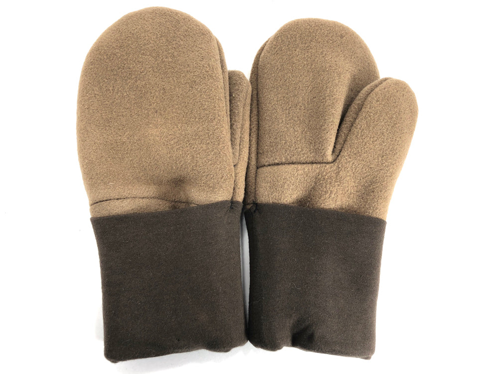 Brown-Tan Men's Wool Mittens - Large - 1782 - The Mitten Company