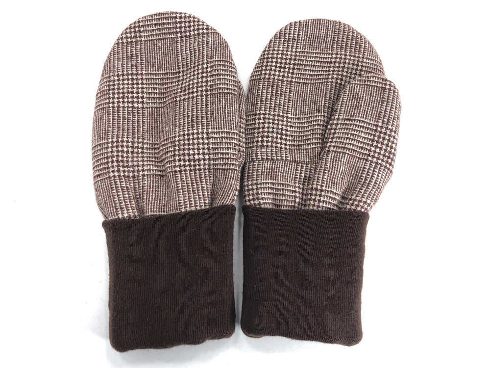 Brown-Tan Men's Wool Mittens - Large - 1783 - The Mitten Company
