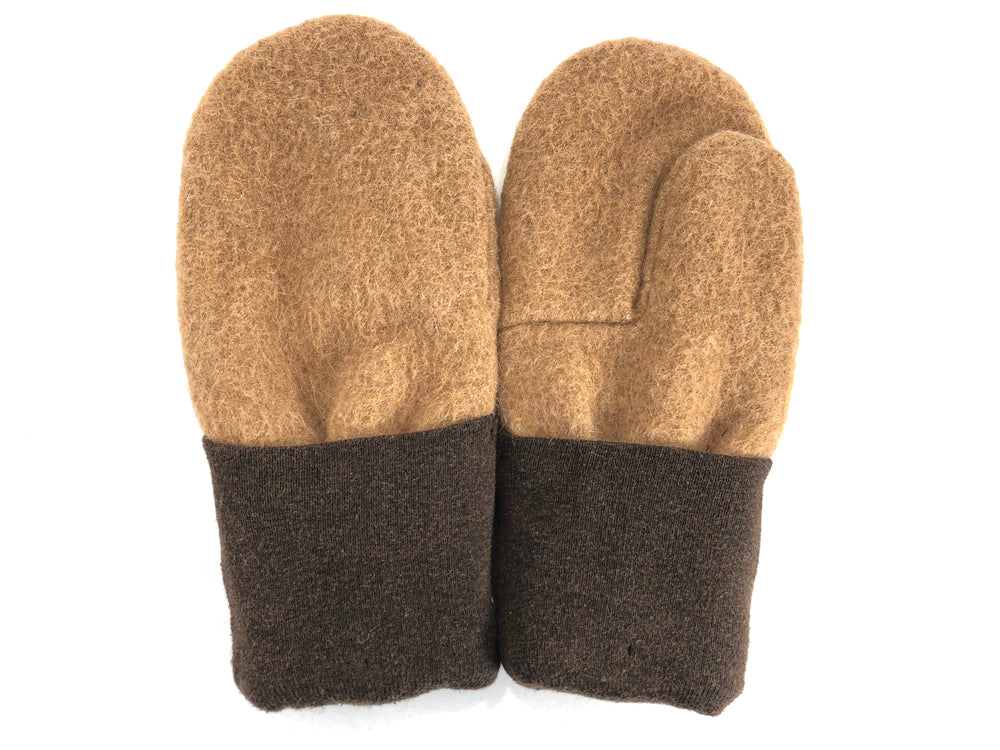Brown-Tan Men's Wool Mittens - Large - 1784 - The Mitten Company