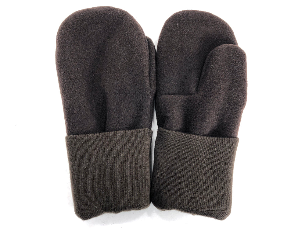 Brown Men's Wool Mittens - Large - 1785 - The Mitten Company