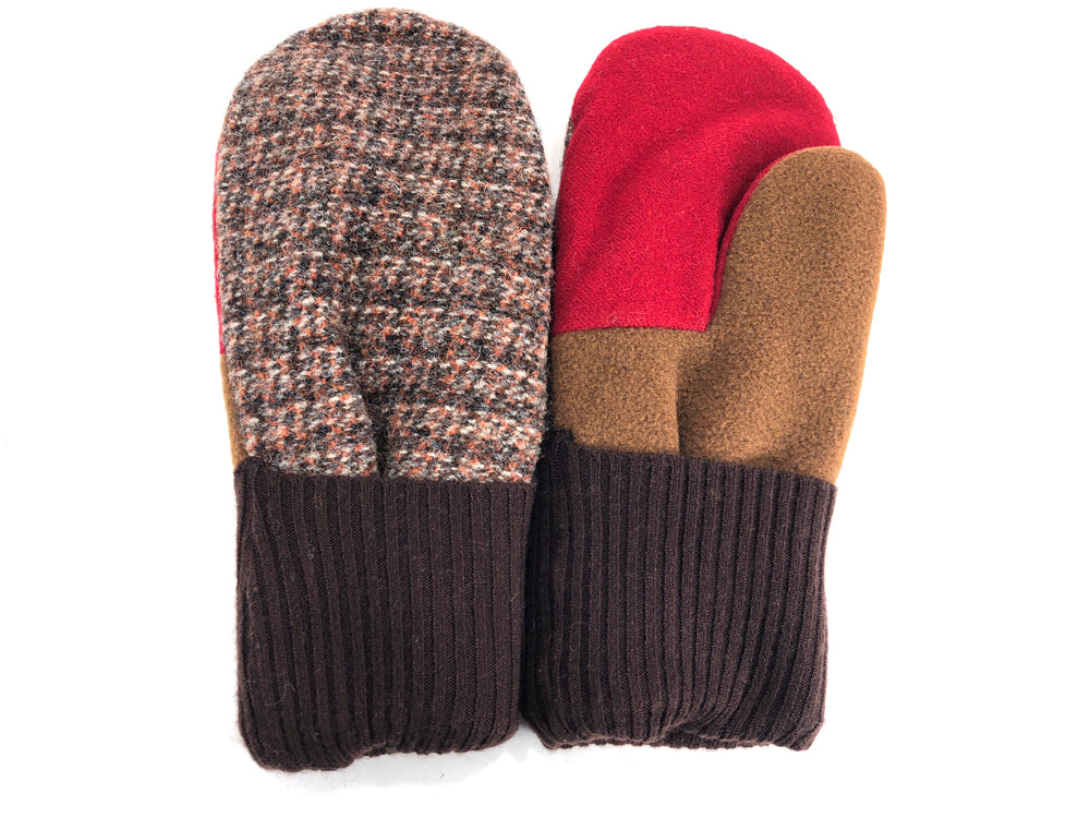 Brown-Red Men's Wool Mittens - Large - 1787-Mens-The Mitten Company