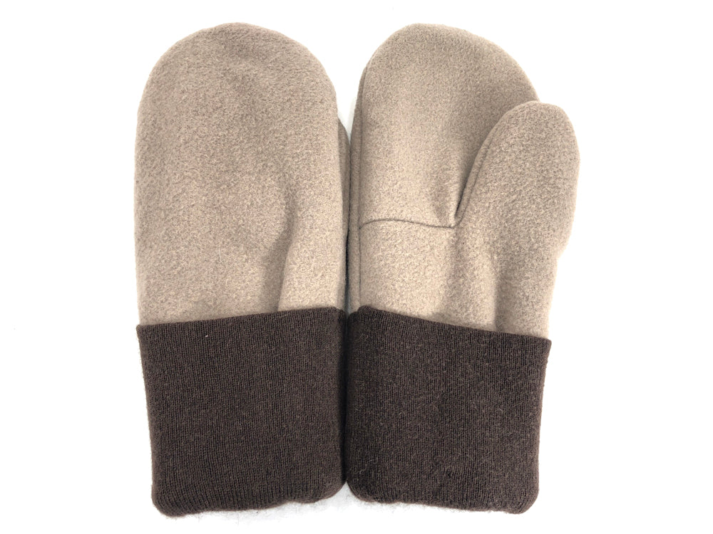 Brown-Tan Men's Wool Mittens - Large - 1791-Mens-The Mitten Company