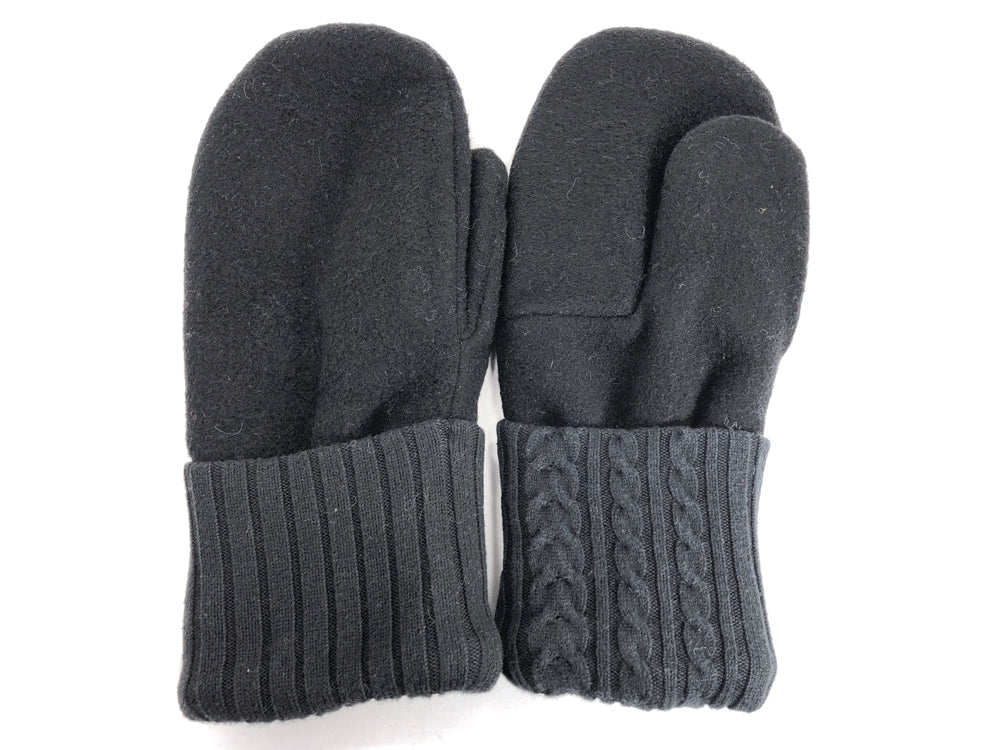 Black Men's Wool Mittens - Large - 1793 - The Mitten Company