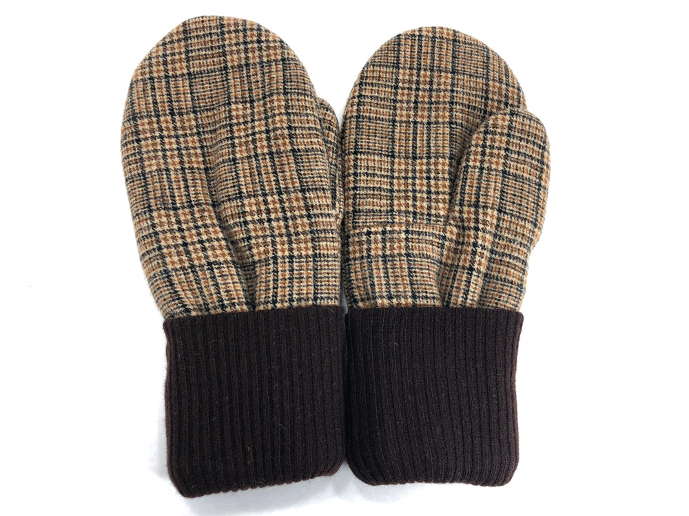 Brown-Tan Men's Wool Mittens - Large - 1794-Mens-The Mitten Company