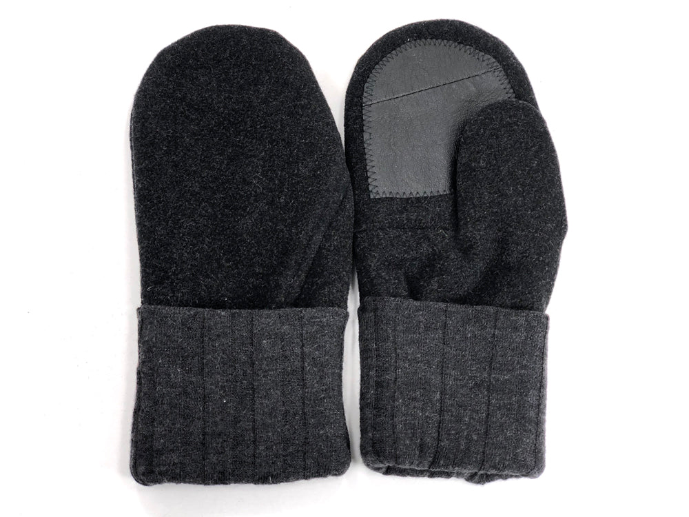 Gray Men's Wool Driver's Mittens - Large - 1796