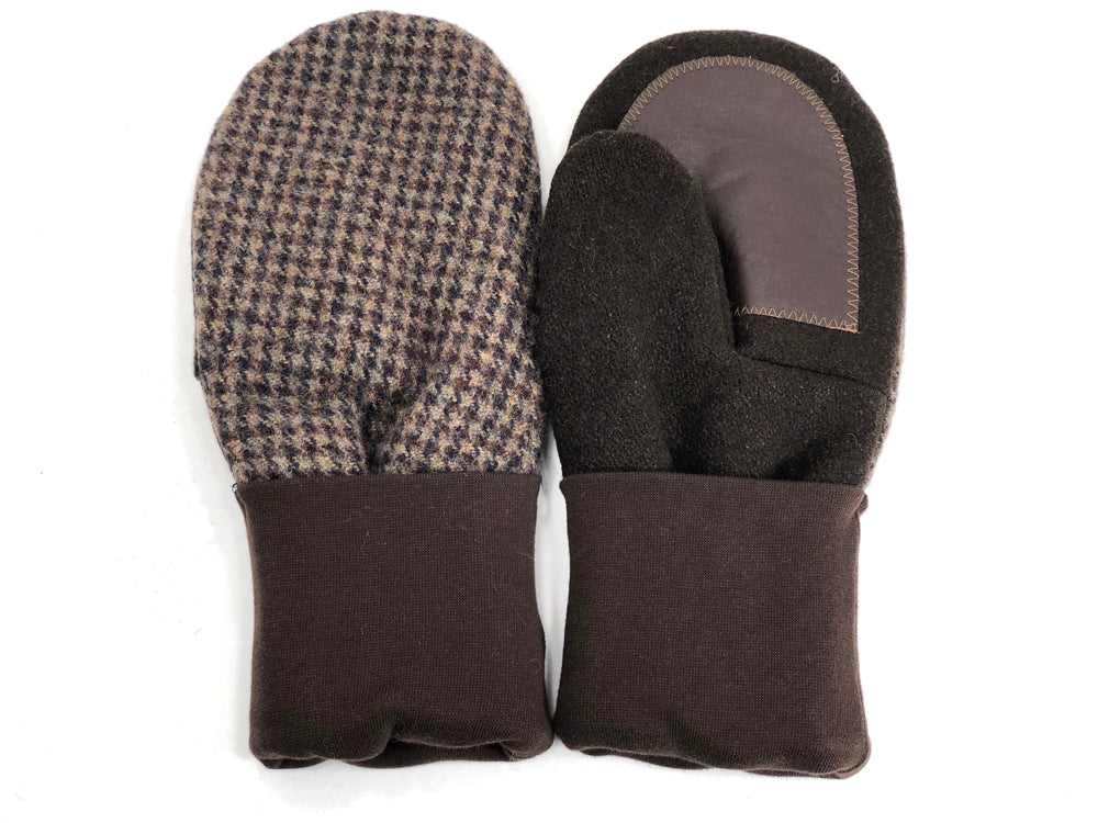 Brown Men's Wool Driver's Mittens - Large - 1797-Mens-The Mitten Company