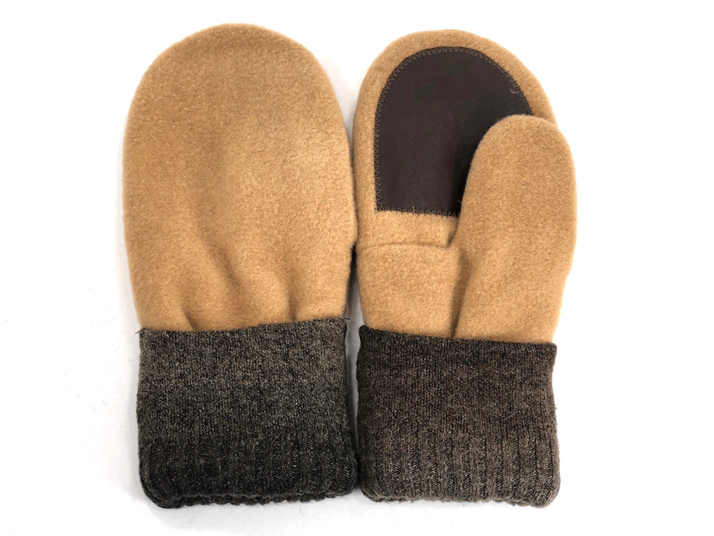 Brown-Tan Men's Wool Driver's Mittens - Large - 1799 - The Mitten Company