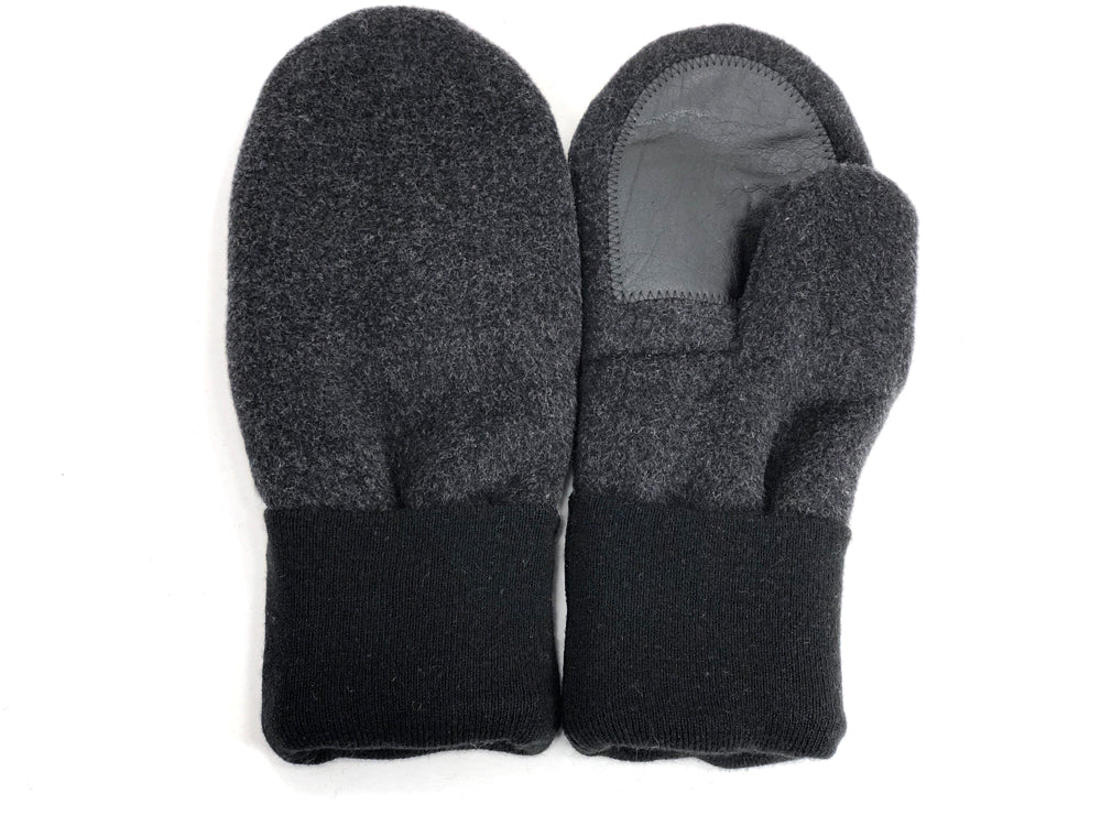 Black-Gray Men's Wool Driver's Mittens - Large - 1800 - The Mitten Company