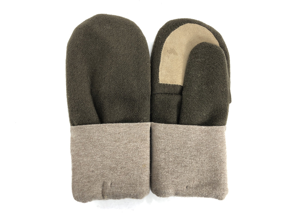 Brown-Beige Men's Wool Driver's Mittens - Large - 1802-Mens-The Mitten Company