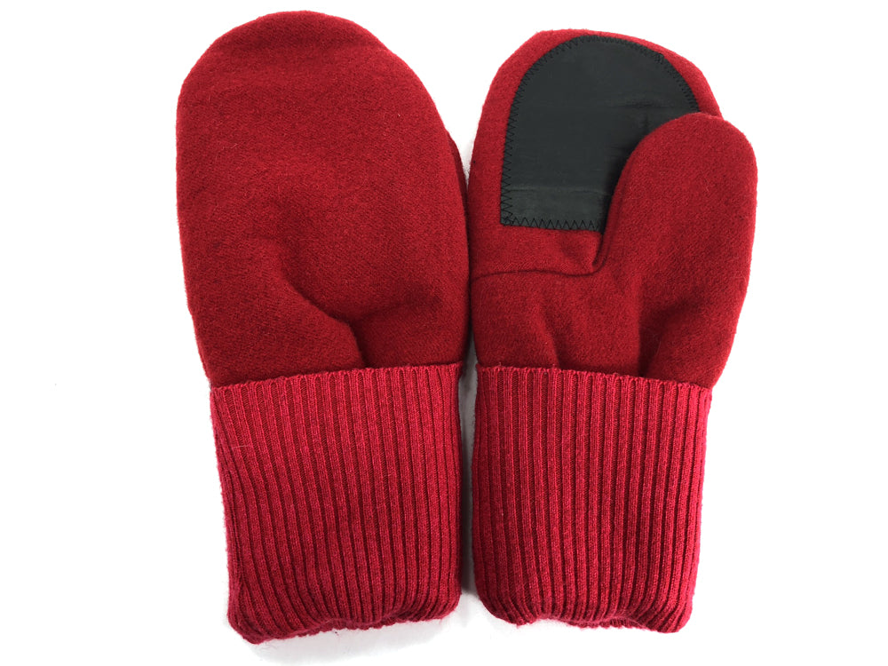 Red Men's Wool Driver's Mittens - Large - 1805