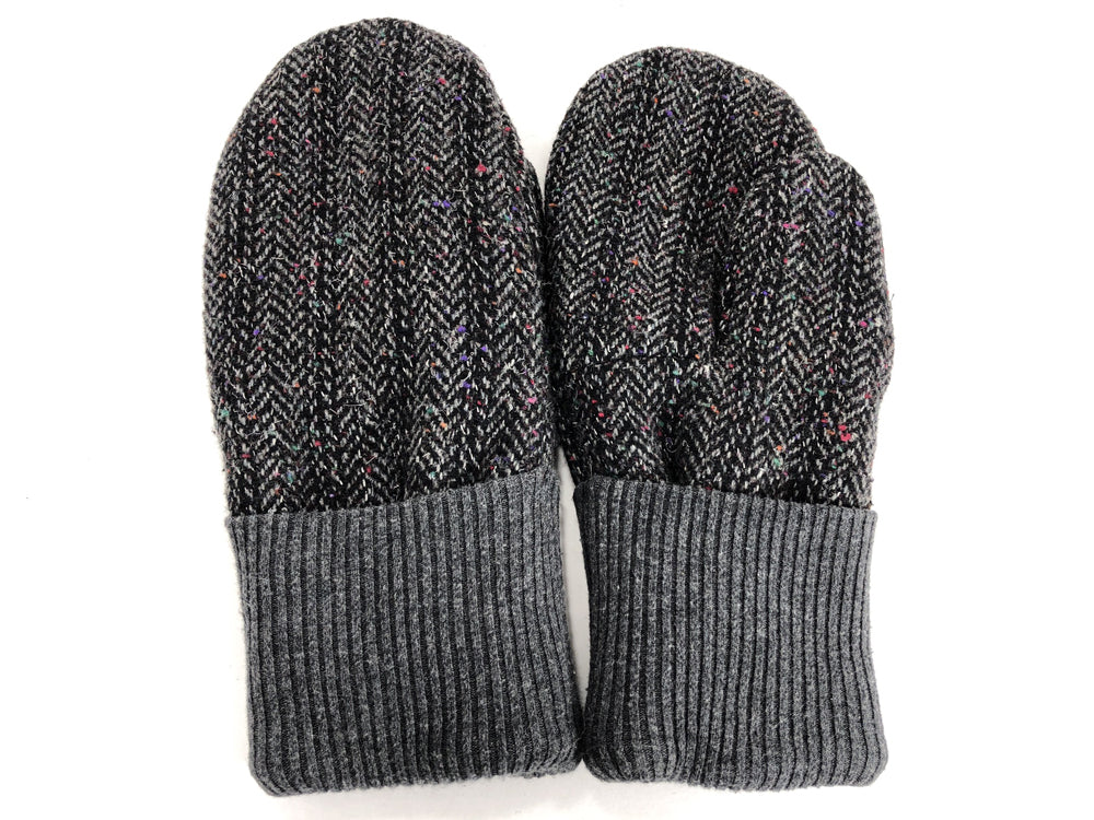 Gray Men's Wool Mittens - Large - 1807