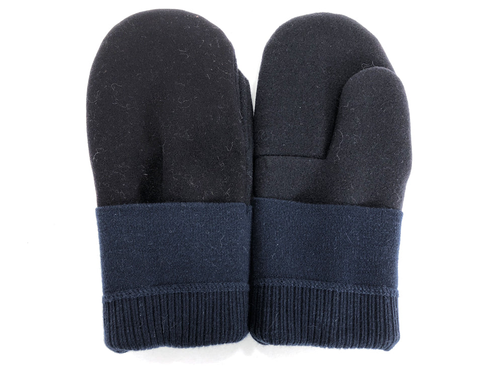 Black-Blue Men's Wool Mittens - Large - 1809 - The Mitten Company