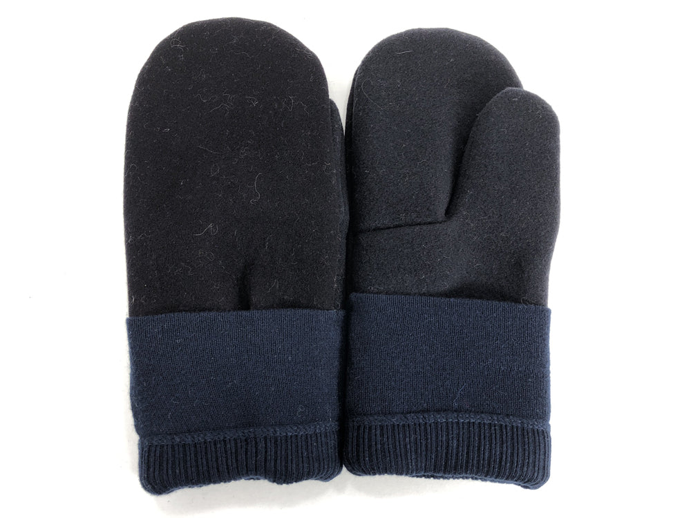 Black-Blue Men's Wool Mittens - Large - 1811 - The Mitten Company
