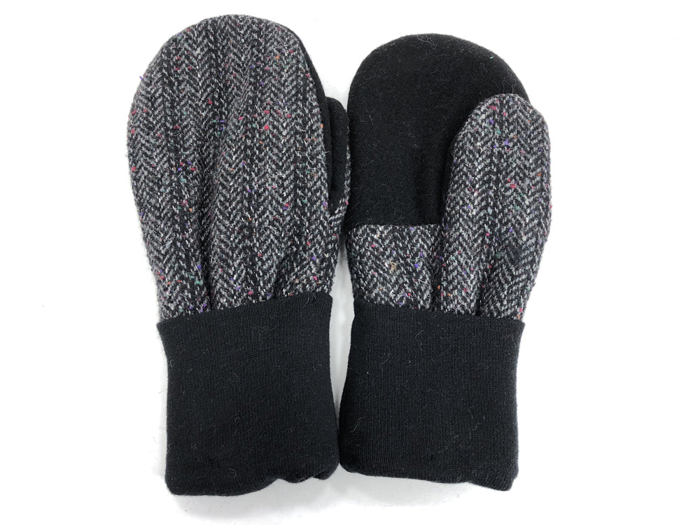 Black-Gray Men's Wool Mittens - Large - 1812-Mens-The Mitten Company