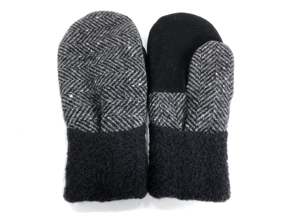 Black-Gray Men's Wool Mittens - Large - 1814 - The Mitten Company