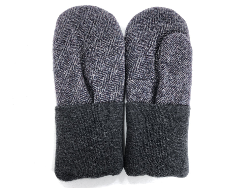 Gray Men's Wool Mittens - Large - 1818
