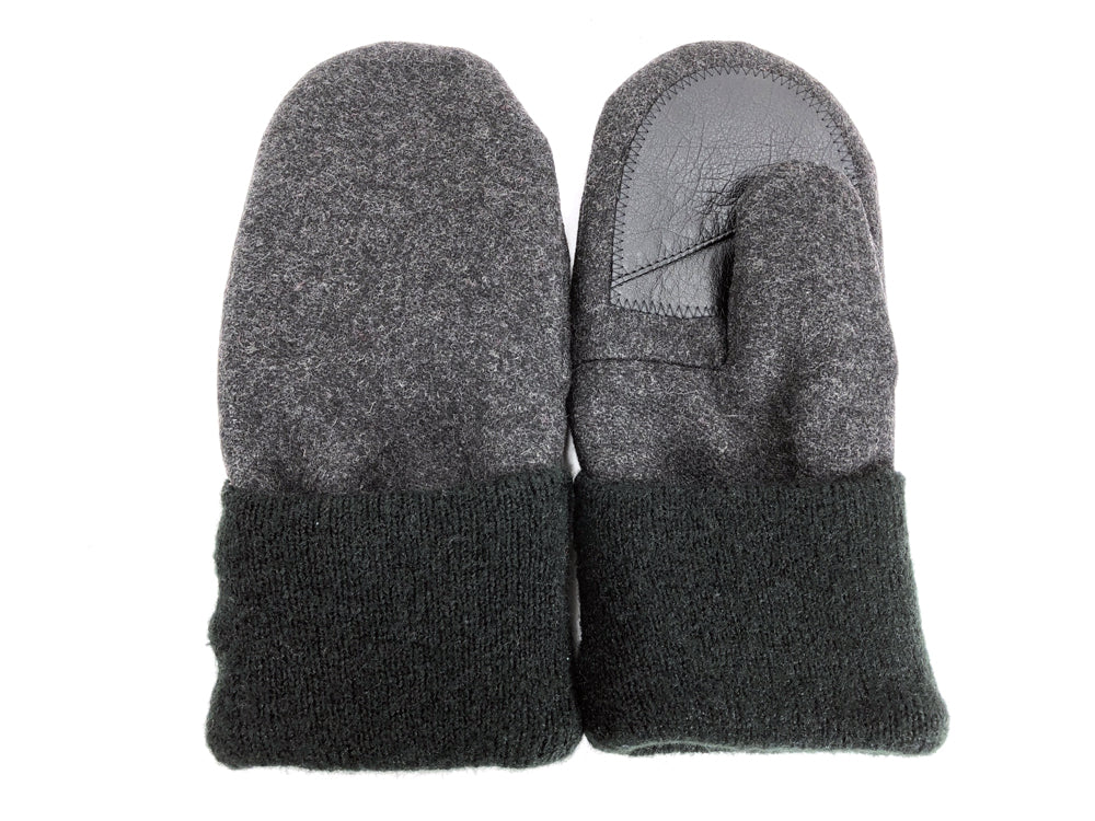 Green-Gray Men's Wool Driver's Mittens - Large - 1821