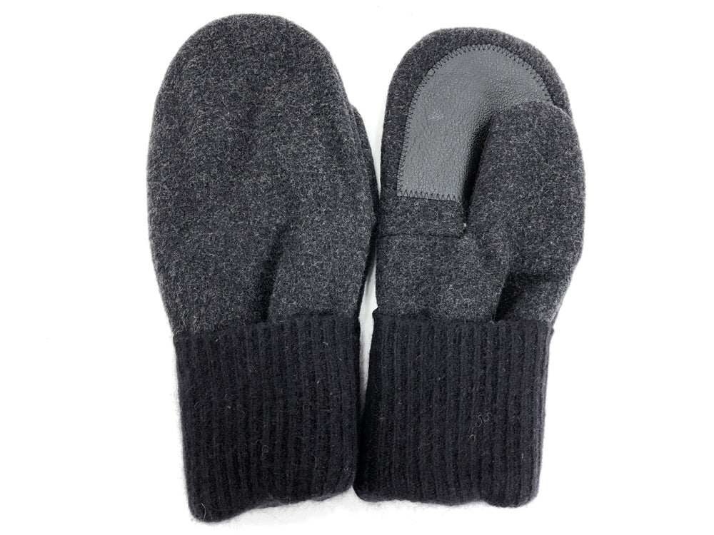 Black-Gray Men's Wool Driver's Mittens - Large - 1823 - The Mitten Company