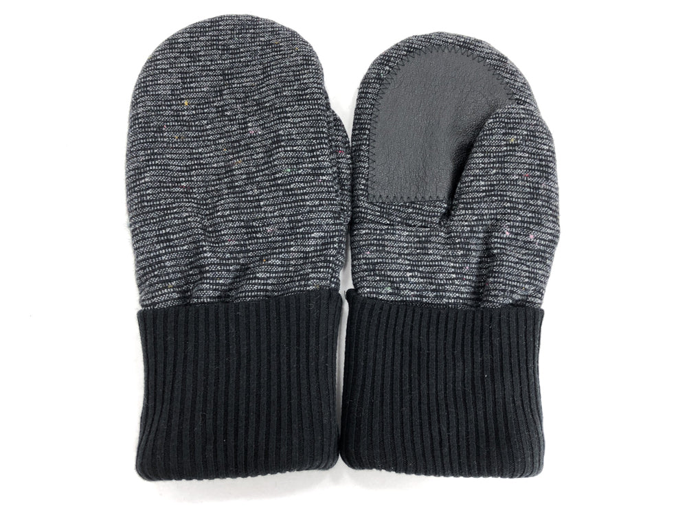 Black-Gray Men's Wool Driver's Mittens - Large - 1824-Mens-The Mitten Company