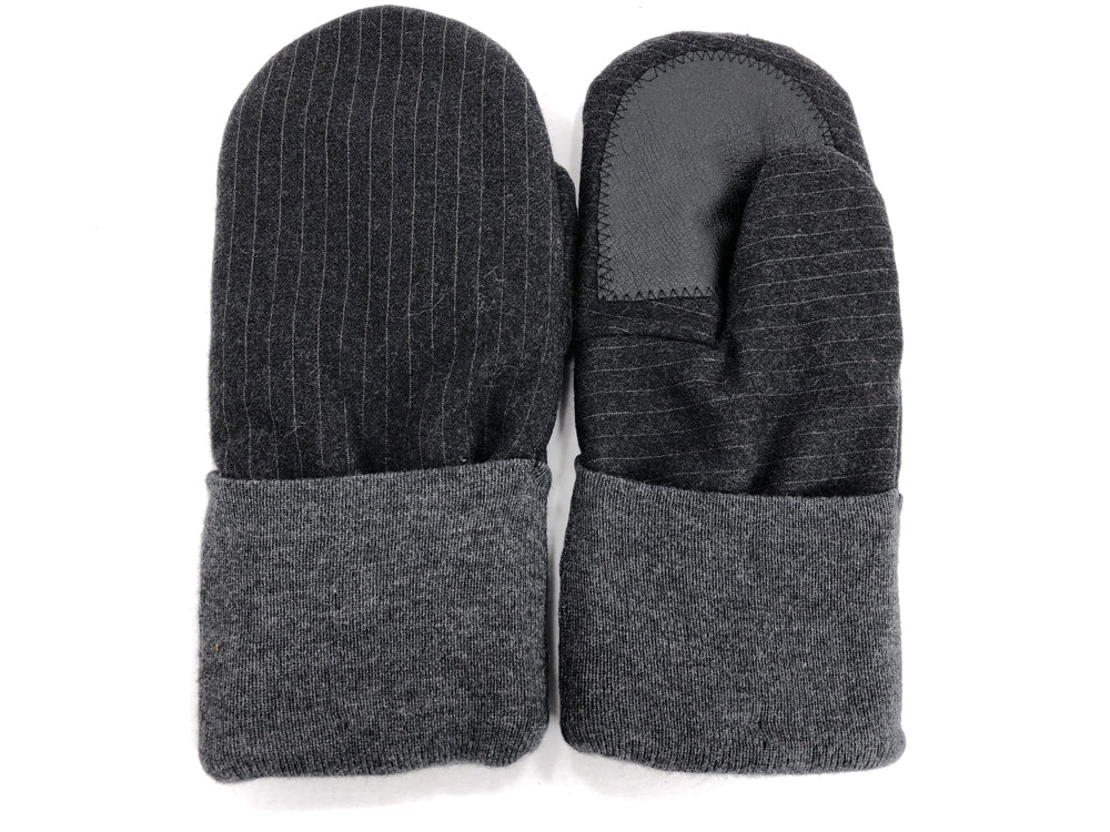 Black-Gray Men's Wool Driver's Mittens - Large - 1825 - The Mitten Company