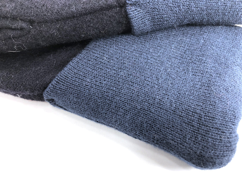 Black-Blue Men's Wool Driver's Mittens - Large - 1827 - The Mitten Company