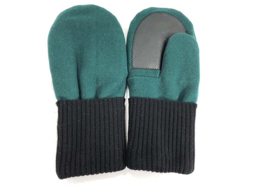 Black-Green Men's Wool Driver's Mittens - Large - 1829 - The Mitten Company