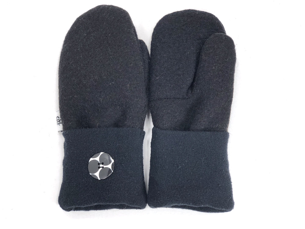 Black Merino Wool Mittens - Small - 1862 - The Mitten Company