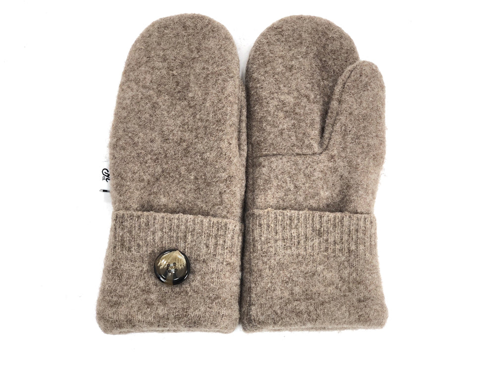 Beige Merino Wool Mittens - Small - 1864-Womens-The Mitten Company