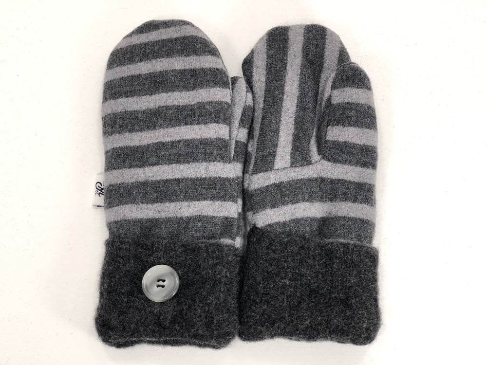Gray Merino Wool Mittens - Small - 1865-Womens-The Mitten Company