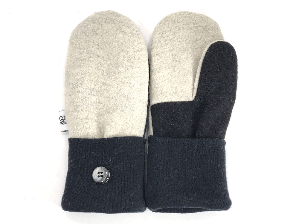 Black-White Merino Wool Mittens - Small - 1866 - The Mitten Company