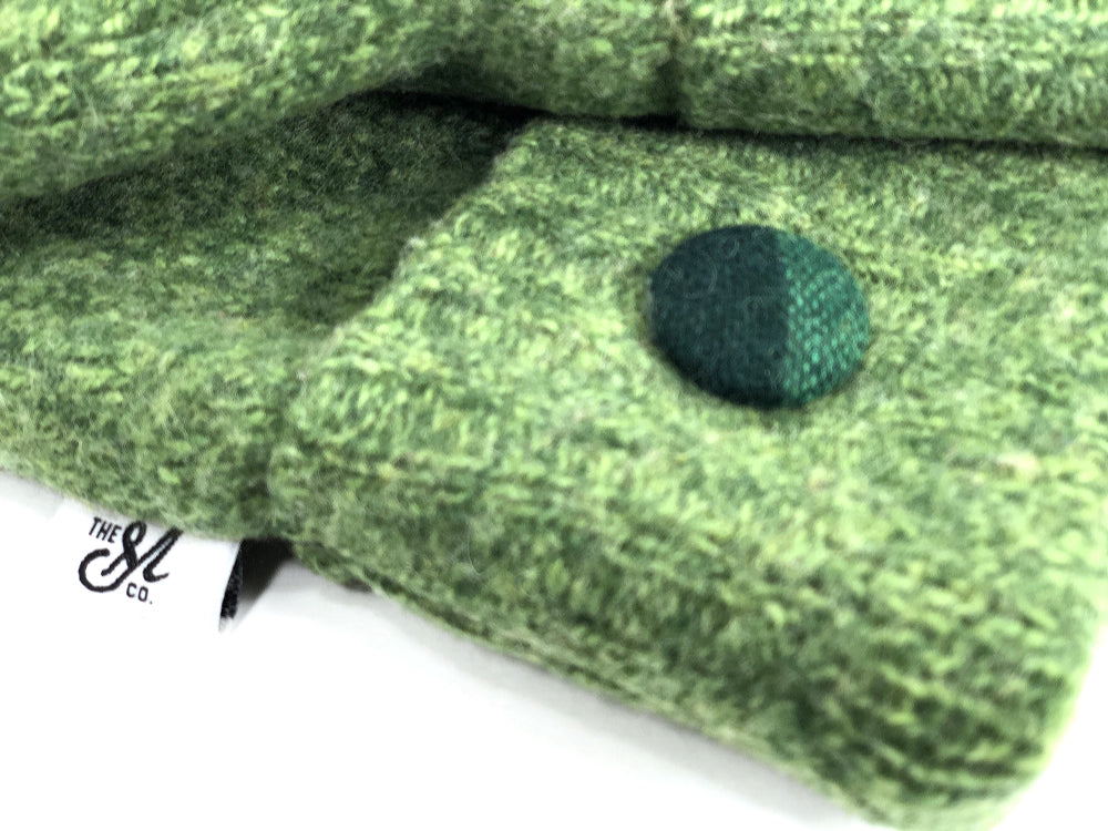 Green Lambs Wool Mittens - Small - 1868-Womens-The Mitten Company