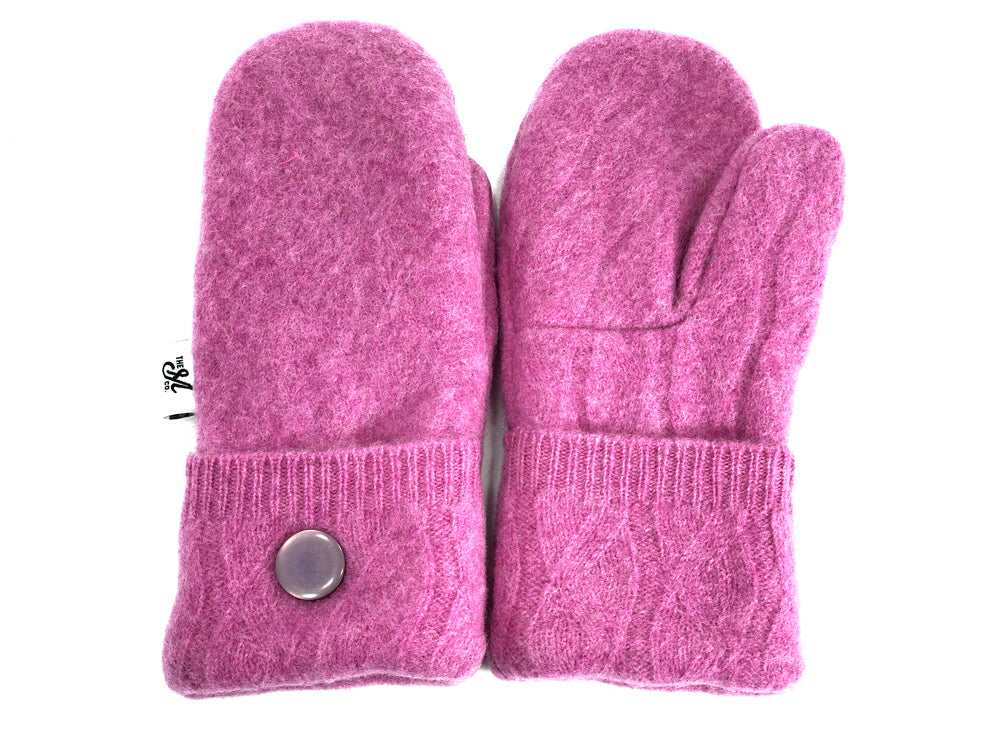 Pink Lambs Wool Mittens - Small - 1874