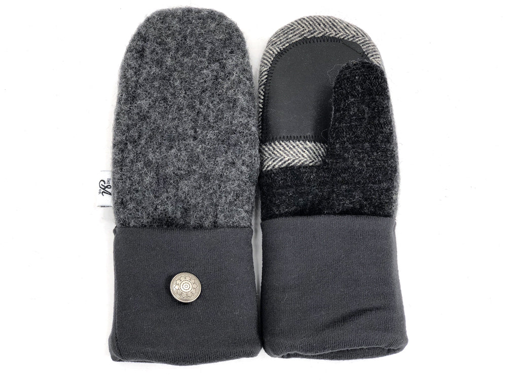 Gray Shetland Wool Women's Drivers Mittens - Small - 1893