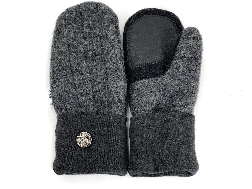 Gray Shetland Wool Women's Drivers Mittens - Small - 1895