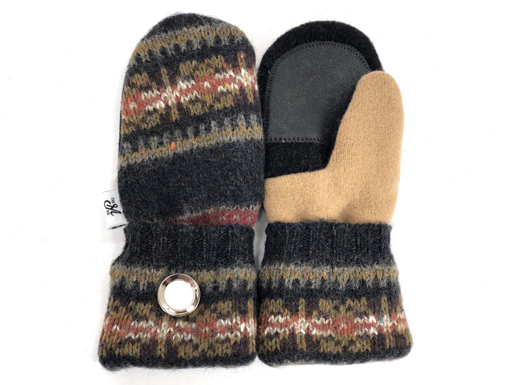 Black-Brown Shetland Wool Women's Drivers Mittens - Small - 1896 - The Mitten Company