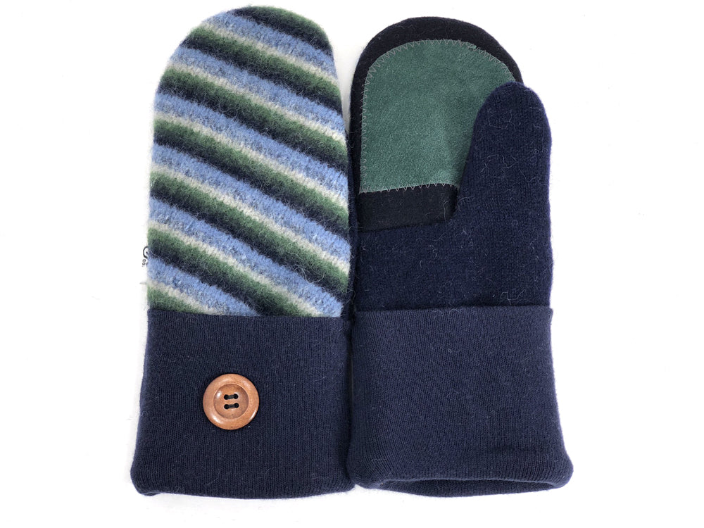 Blue-Green Lambs Wool Women's Drivers Mittens - Small - 1900 - The Mitten Company