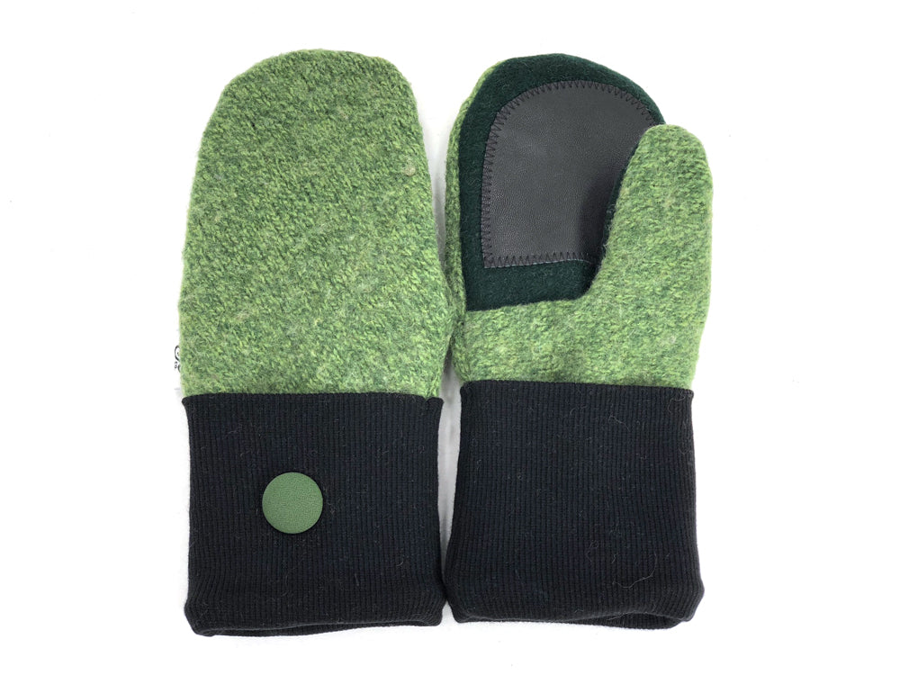 Green Lambs Wool Women's Drivers Mittens - Small - 1906