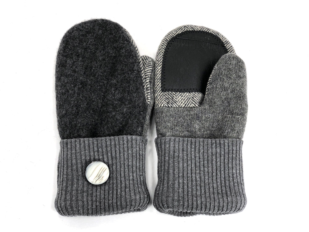 Gray Lambs Wool Women's Drivers Mittens - Medium - 1924