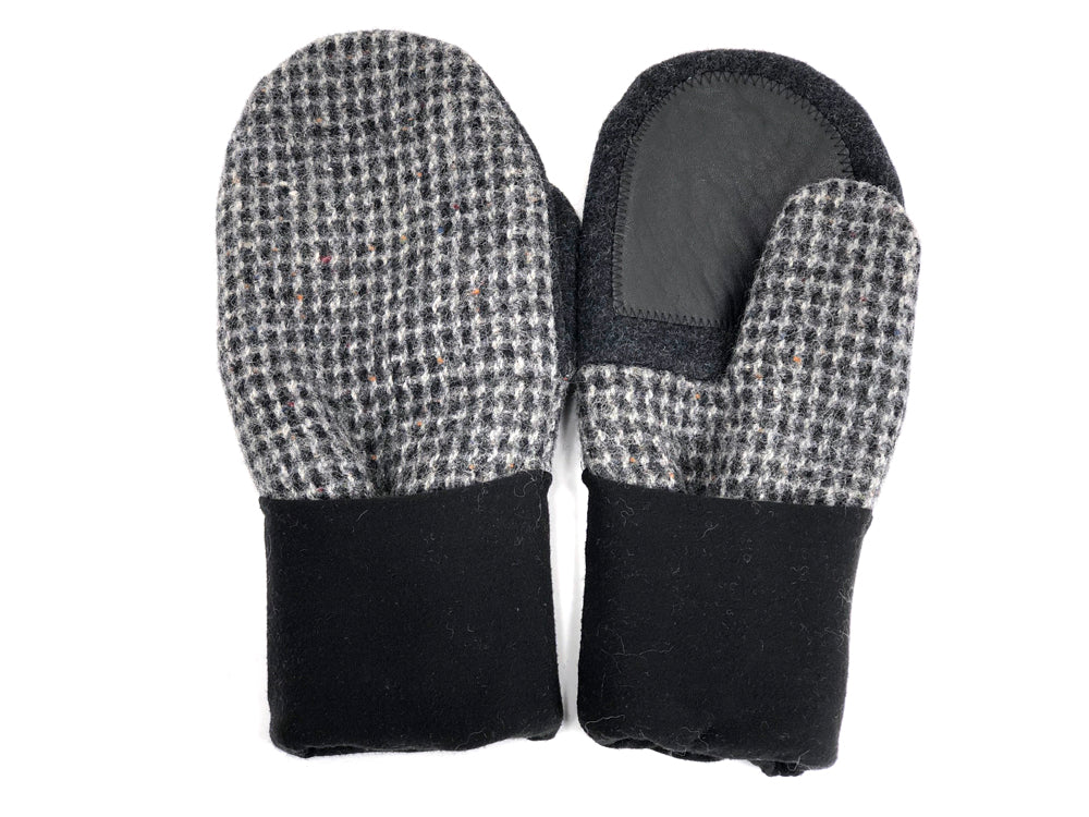 Black-Gray Men's Wool Driver's Mittens - Large - 1968-Mens-The Mitten Company